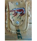 Quilled Bear Brain Tanned Belt Bag