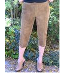 Brain Tanned Walnut Dyed Capri Pants