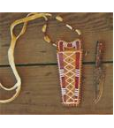 Quilled Knife Neck Pouch