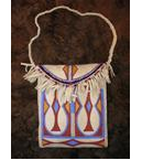Elk Parfleche Hand Painted Purse