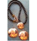 Black Onyx Necklace and Copper Earings by Spirit Hawk