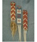 Quilled Lakota Hair Ornaments