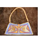 Painted Bison Rawhide Purse