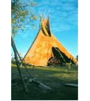 Brain Tanned Elk and Buffalo Tipi