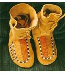 Lakota Quilled Brain Tanned Moccasins