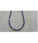 Heshi Lapis and silver necklace