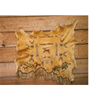 Hand Painted Deer Hide