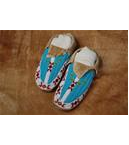 Brain Tan Beaded Moccasins